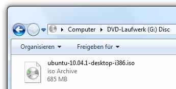 iso-Image nicht als Datei auf CD/DVD brennen. So also nicht!